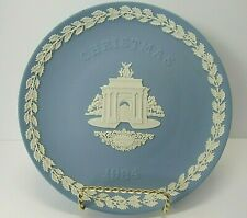 Wedgwood 1984 Christmas Plate - Pale Blue & White Jasperware - Constitution Hill