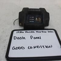 1986 Honda Fourtrax 350 Trx350 4x4 Oem Dash Ignition Display Indicator Panel