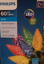 Philips 2 boxes of 60 D1 C6 Multi-color LED lights Green Wire Indoor/Outdoor NIB