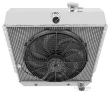 "1949 1950 1951 1952 1953 1954 Chevrolet Cars 4 Row Advanced Radiator w/ 16"" fan"