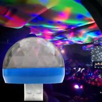 LED USB Car Atmosphere Light Mini Romantic Holiday Lights DJ Music Sound Lamp