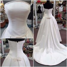 MORI LEE IVORY/CHAMPAGNE DUCHESS SATIN Bridal Ballgown Gown Dress Sz4 $850 #8701
