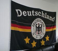 Deutschland Flagge 4 Sterne 150 x 250 cm XXL Fahne sehr groß WM 2018