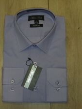 PROMO♥ chemise homme MARCO BELLI lila taille L / 41-42 slim fit 70% coton neuf