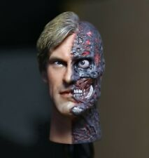 Custom Aaron Eckhart Burned 1/6 Head Sculpt for Hot Toys Body Two Face