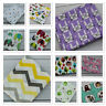 Beautiful Printed Muslin Squares 80x70cm 100% COTTON Wipes Reusable Bibs Nappy