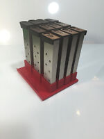 1911 Single Stack .45 Magazine Holder - Holds 12 Mags - 45acp - RED