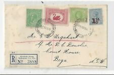 Australia 1941 Registered Cover, Mix of Federal, Victoria and Tas Stamps