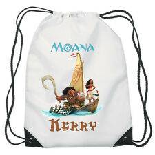 Moana Boat Drawstring PE Bag Personalised swimming shoes Gym
