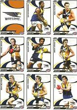 2006 Select AFL Supreme WEST COAST TEAM SET - 12 Cards