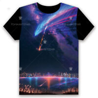 Anime Your Name 君の名は T-shirt Short Sleeve Unisex Loose Black TEE Tops Cosplay#D3