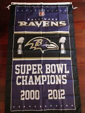 Baltimore Ravens 3x5 Super Bowl Champions Flag. Free shipping within the US