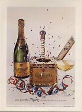 1962 Piper - Heidsieck PRINT AD Champagne Vintage 1955 Bottle Party Streamers