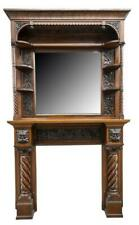 Fireplace Mantel & Surround, American Mirrored, Early 1900s, Amazing Antique!