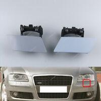 2stk. Scheinwerfer Waschanlage Abdeckung für AUDI A8 D3 S8 Quattro 2005-2010