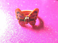 Plastic Butterfly Ring 2 Size 8 & Size 6  (Choose one size)