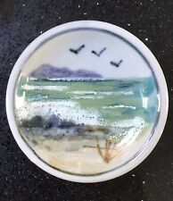 Highland Stoneware Pottery Small Seascape Dish...Perfect Condition.