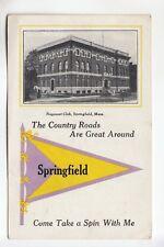 Purple & Yellow Printed Pennant & Nayasset Club Springfield  MA