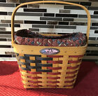 Longaberger SIGNED 25th Anniversary Basket Combo Patriotic 4 FAMILY SIGNATURES