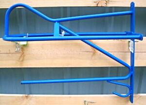 New Wall Saddle Rack With Blanket Bar & Bridle Hook BlueTubular Steel Horse Tack