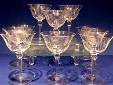 8 CRYSTAL CHAMPAGNE BIRD BATH STYLE GLASSES