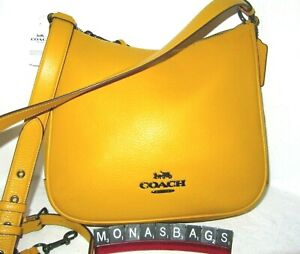Coach C1648 Ellie File Citrine Yellow Leather Crossbody Shoulder Handbag NWT