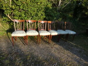 set of 6 Art Nouveau dining chairs
