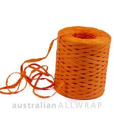 Premium ORANGE RAFFIA (Poly) Natural Ribbon 35mm x 200m