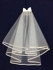 Holy Communion Veil w/White Satin Bow, Bridesmaid/Flower Girl BN
