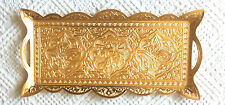 TURKISH ZAMAK TRAY GOLD COLOR, RECTANGLE & WAVY ,Ottoman Figures-M2