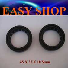 Pair 45mm X 33mm X 10.5mm Front Fork Oil Seal Dirt Pit Pro Bike Trail Dune Shock