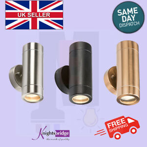 Up and Down Light GU10 IP65, Knightsbridge, Stainless Steel,Copper Colour, Black