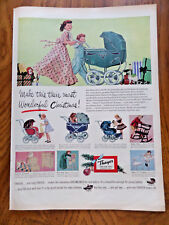 1951 Thayer Doll Coach Baby Buggy Ad  Christmas Theme