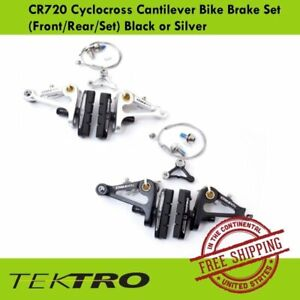 Tektro CR720 Cyclocross Cantilever Bike Brake Set (Front / Rear) Black or Silver