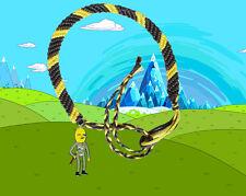 Adventure Time Earl Lemongrab friendship bracelet with charm FREE POSTAGE!