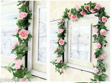 7ft Artificial Silk Rose Flower Ivy Vine Leaf Garland Wedding Party Home Decor