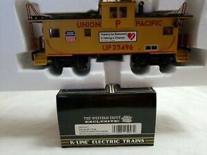 K-LINE WESTERN DEPOT #K613-2111 UNION PACIFIC O SCALE EXT. VISION CABOOSE #25496