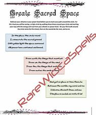 Create Sacred Space Cast Circle Spell Wicca Book of Shadows Magick Pagan Occult