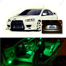 For Mitsubishi Evolution 2007-15 Green LED Interior Kit +White License Light LED