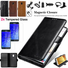 Leather Wallet Flip Case Stand Card Slot Cover For Samsung Galaxy J7 2018 / 2017