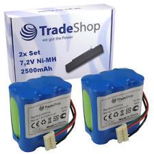 2x Trade-Shop Premium AKKU 7,2V 2500mAh für iRobot Braava 380 380T 390 390T