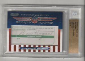 2010 Ben Hogan Razor Sports Icons Cut Signature Edition Autograph /18