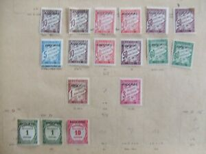 Andorra Postage Due mint collection