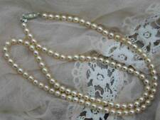 Diamante Glass Necklace Vintage Costume Jewellery (1950s)
