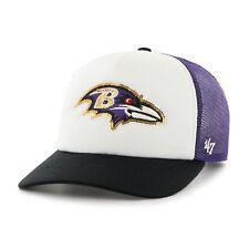 NFL Baltimore Ravens 47 Brand Womens Hat Glimmer LS Adjustable Sparkle Cap