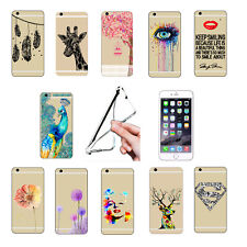 Ultra Thin Fashion Pattern Clear Soft Phone Case For iPhone 4/5/6/7/8 Samsung
