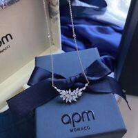Apm Monaco Croco Adjustable Necklace Silver Edition Fun Authentic NEW RRP$175