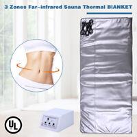 3 Zones Sauna Blanket Far-Infrared Slimming SPA Detox Weight Loss Machine