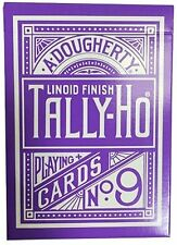 Tally Ho Purple Deck Reverse Circle Back Limited Edition Playing Cards
