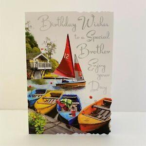 Jonny Javelin Special Brother Birthday Wishes Card Boating Lake/V586